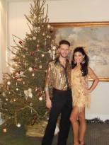 Ballroom dance show at Christmas