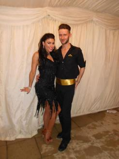 Strictly dancers at an event