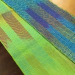 Painted warp scarves