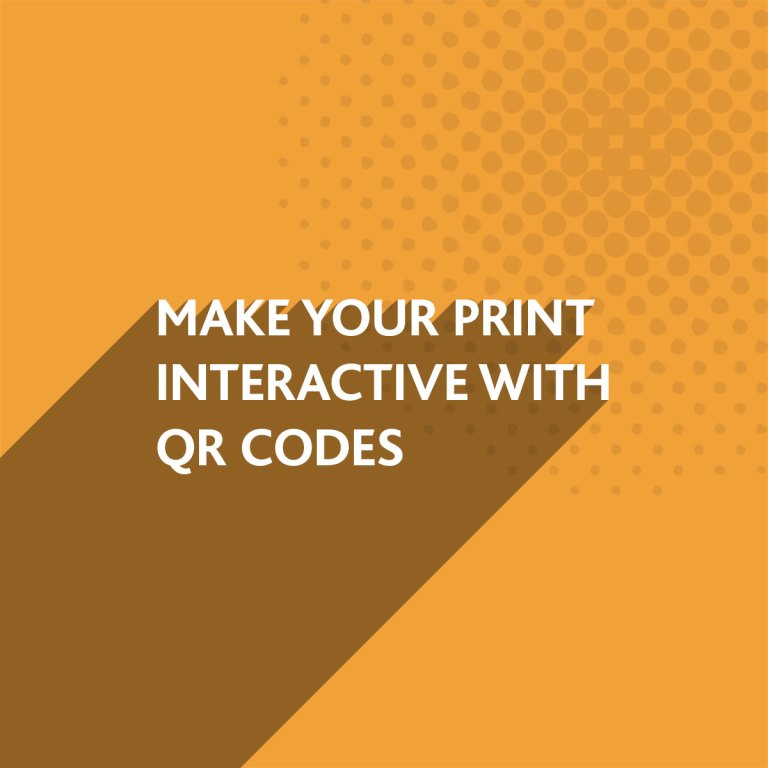 QR Codes can make your print interactive