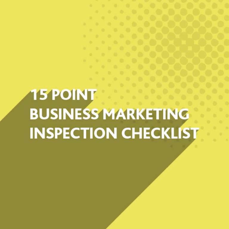 Business Marketing Inspection Checklist