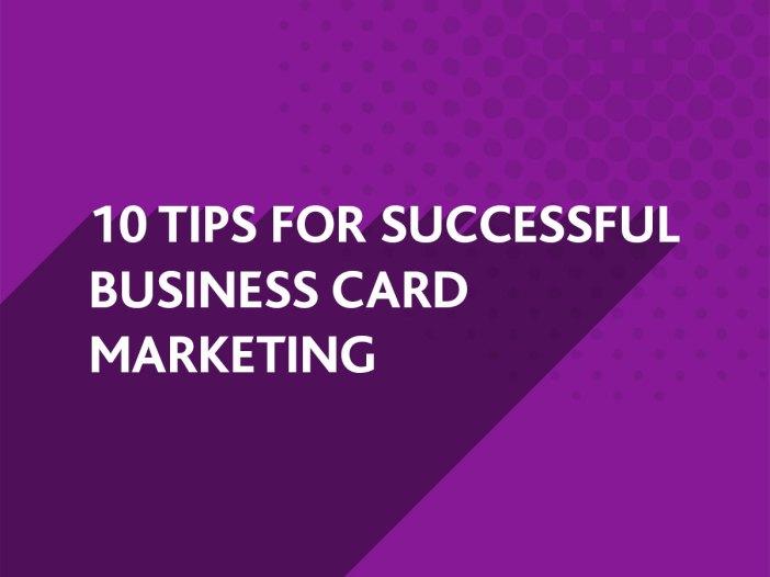 Successful Business Card Marketing