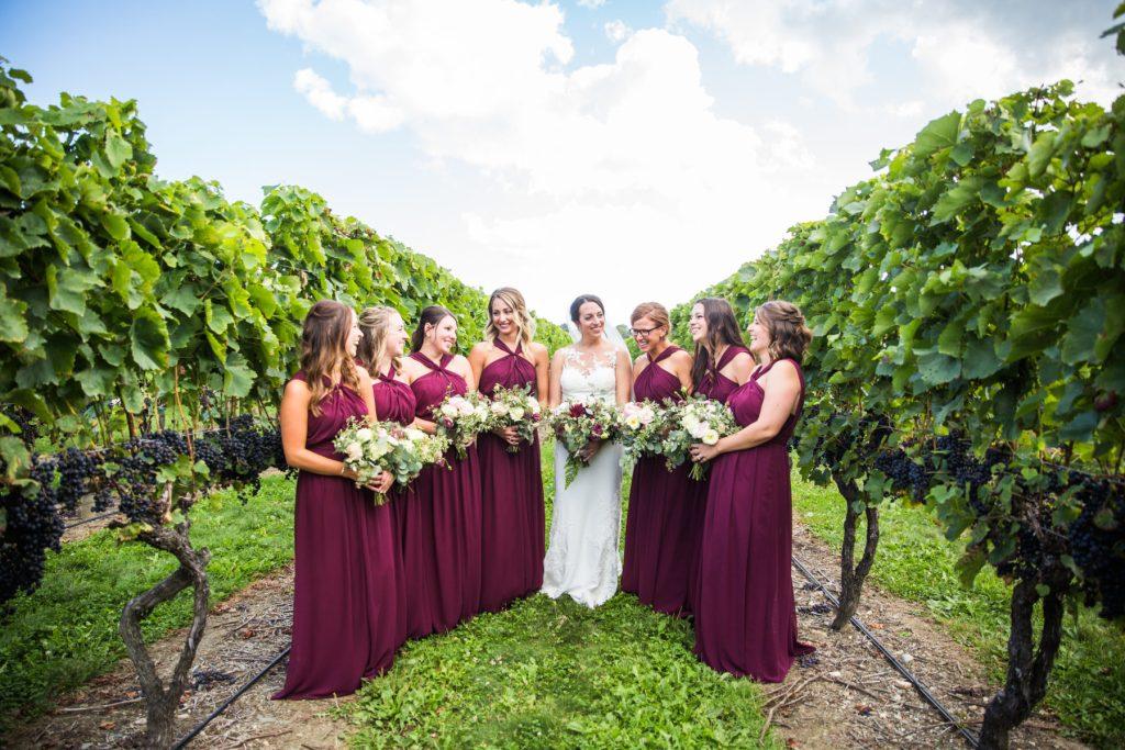 burgundy bridesmaid inspiration