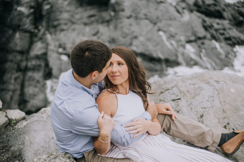Katherine and Chris | Engagement Session on The Cliffwalk | Blueflash Photography