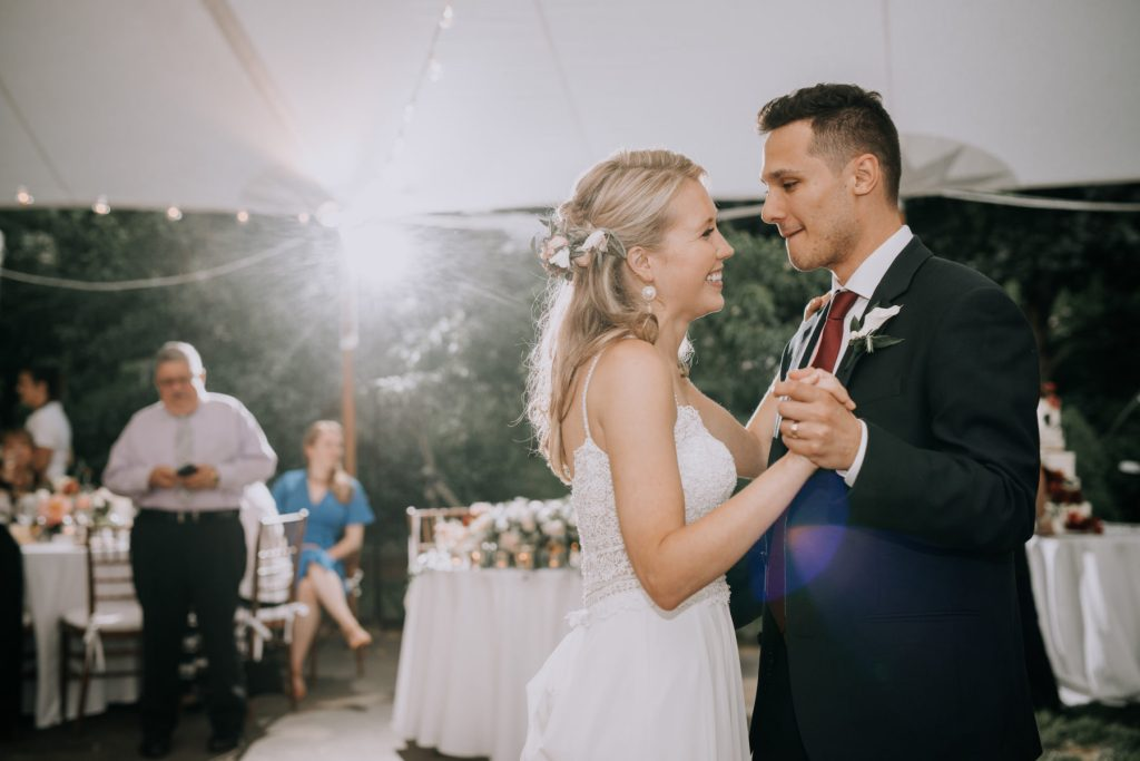 Sasha and Michael | bride and groom's first dance in tent