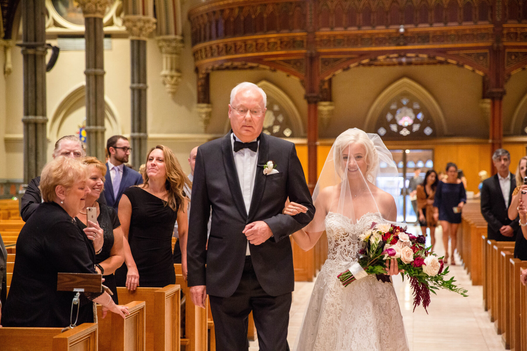 Cathedral of Saints Peter and Paul Providence Wedding Elena and Hunter Blueflash Photography 7