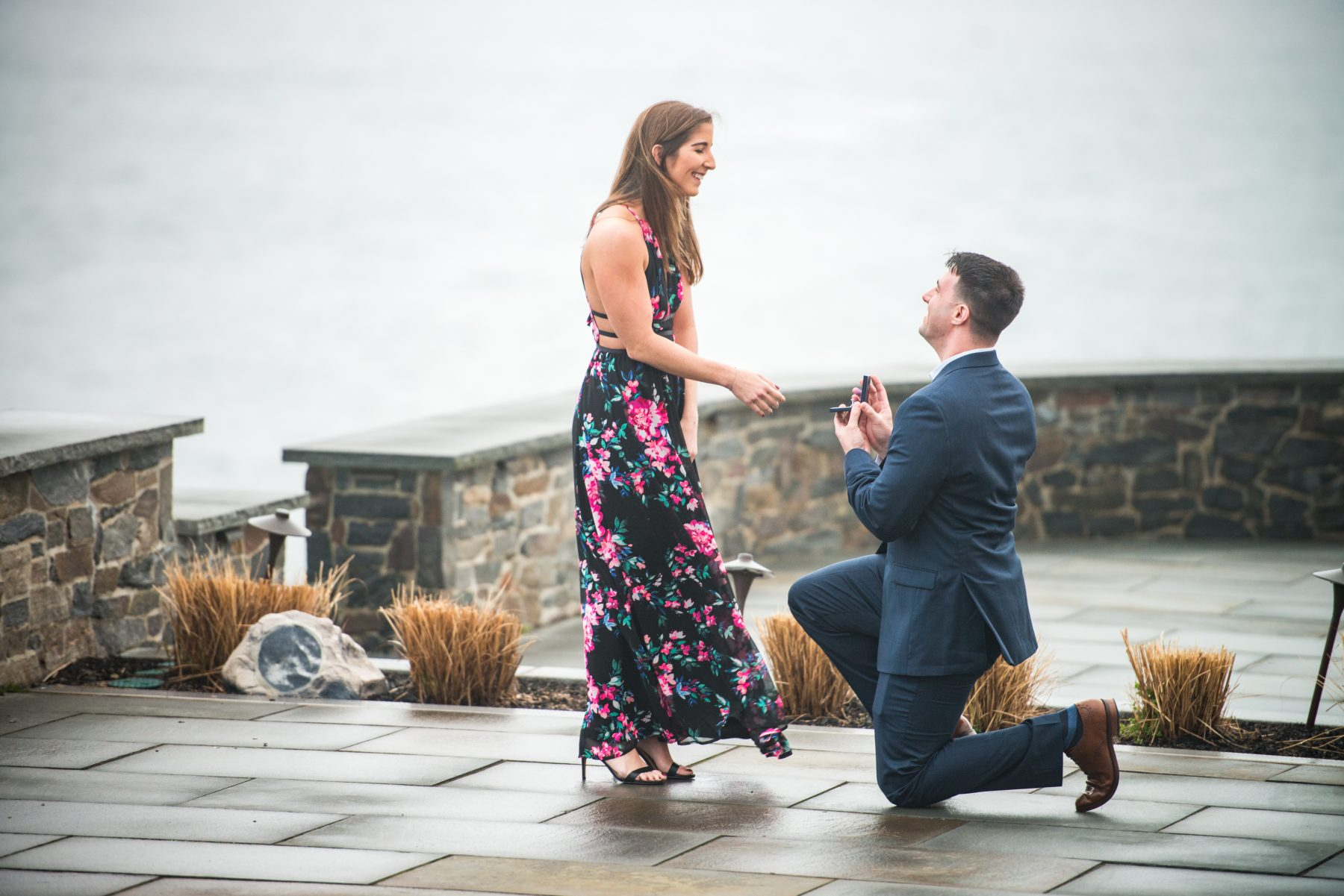 Zoe and Stephen Castle Hill Inn Newport Proposal Blueflash Photography 2
