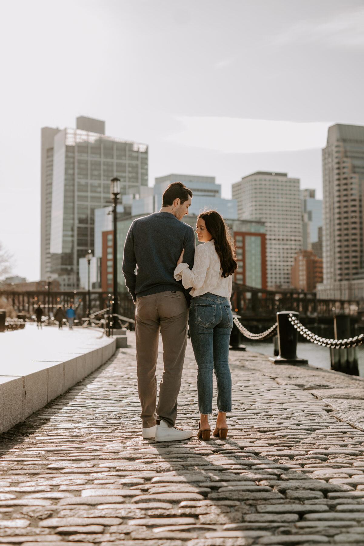 Boston Waterfront Engagement Rachel and Michael Blueflash Photography 1