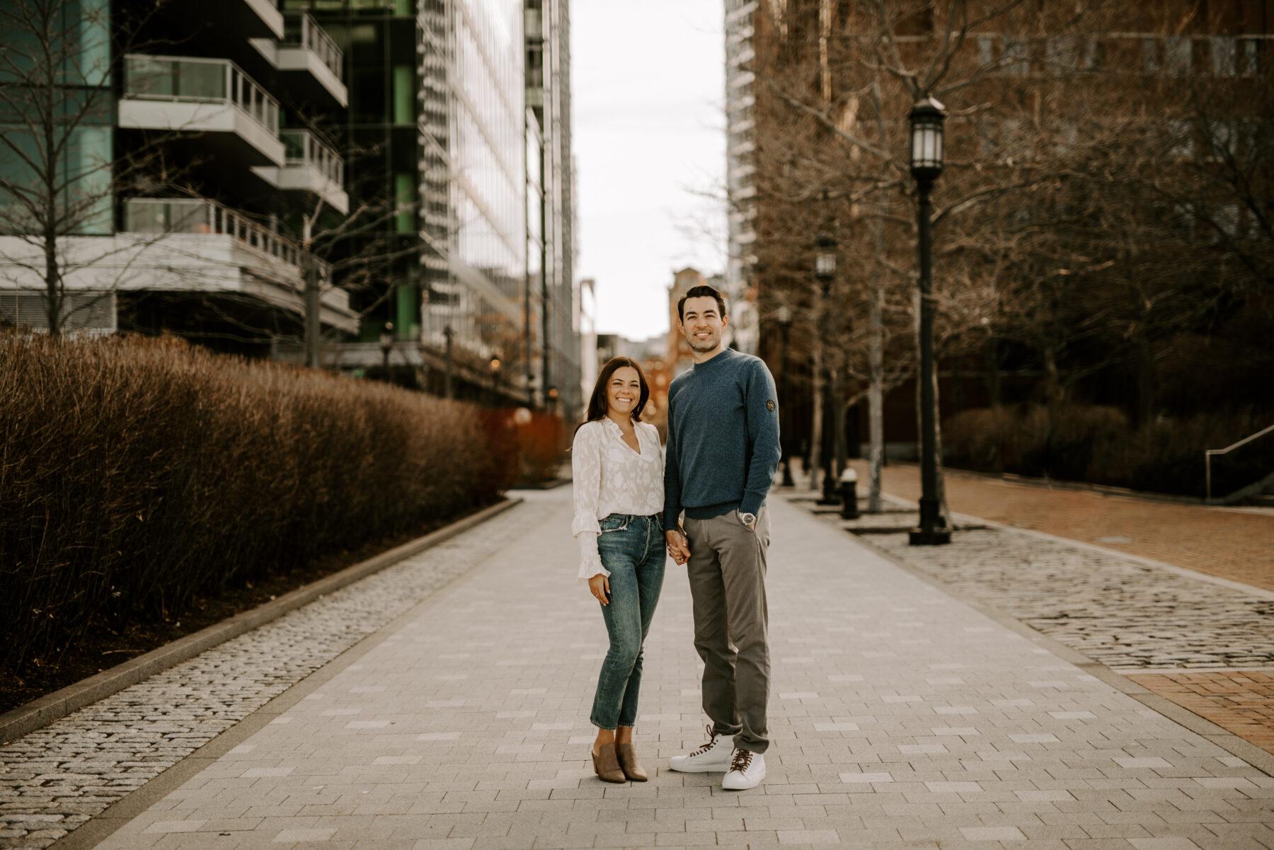 Boston Waterfront Engagement Rachel and Michael Blueflash Photography 2