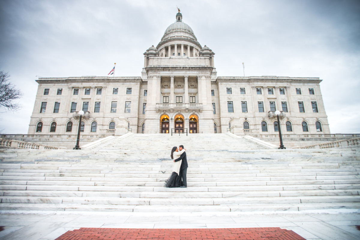 Downtown Providence Engagement - Rhode Island Statehouse Steps