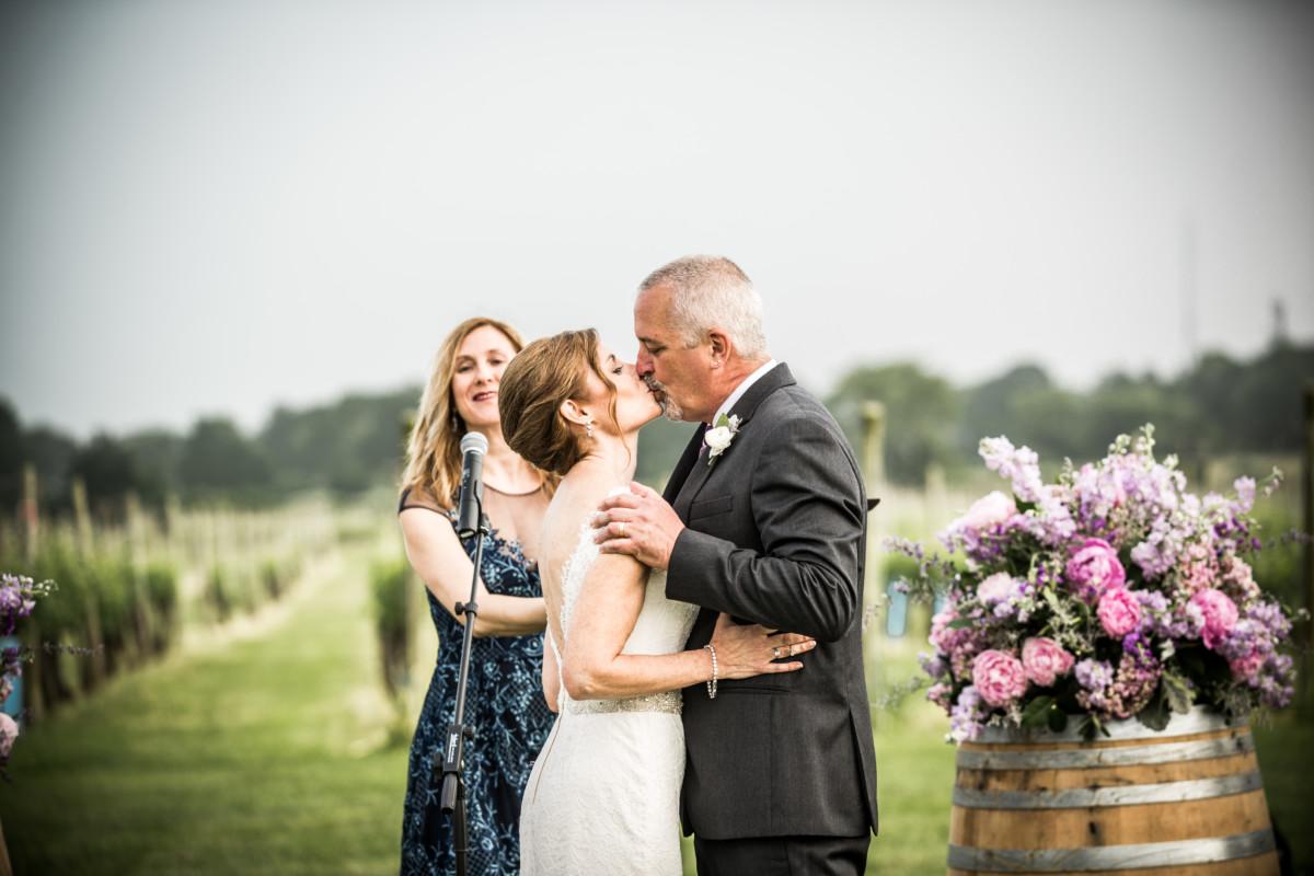 Lisa and Bill   Newport Vineyards Wedding
