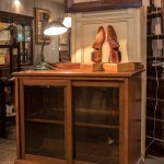 Low Light Mahogany Bookcase With Sliding Glass Doors Blue Fonz