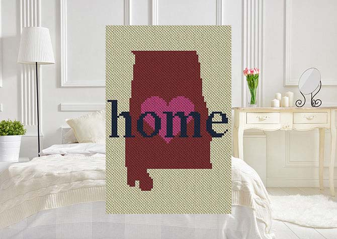 Alabama Home C2C Crochet Pattern