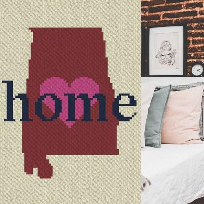 Alabama Home corner to corner crochet pattern