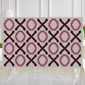 Hugs and Kisses C2C Corner to Corner Crochet Pattern