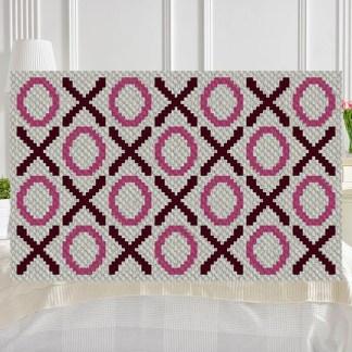 Hugs and Kisses C2C Corner to Corner Crochet Pattern