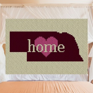 Nebraska Home C2C Corner to Corner Crochet Pattern