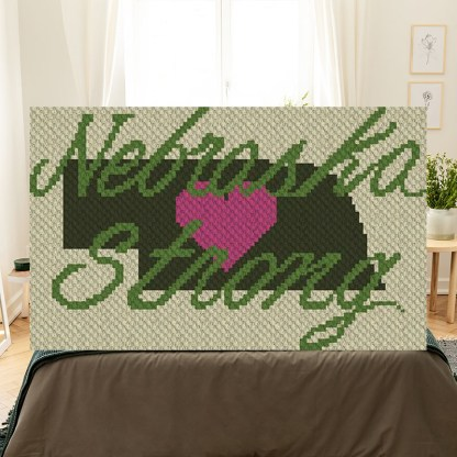 Nebraska Strong C2C Corner to Corner Crochet Pattern