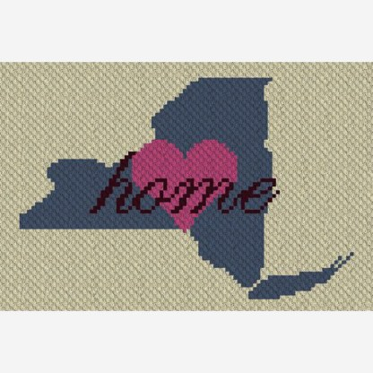 New York Home C2C Corner to Corner Crochet Pattern