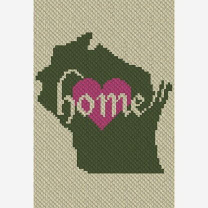 Wisconsin Home C2C Corner to Corner Crochet Pattern