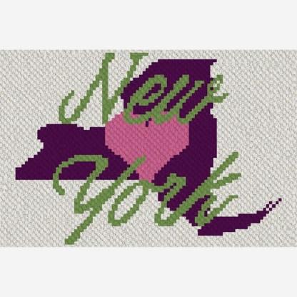 heart new york C2C corner to corner