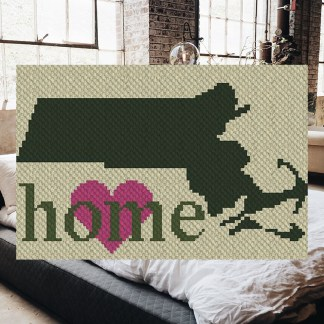 Massachusetts Home C2C Corner to Corner Crochet Pattern