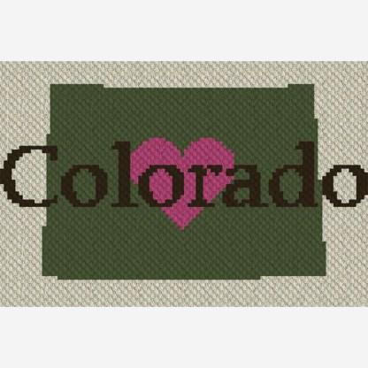 Heart Colorado C2C Corner to Corner Crochet Pattern