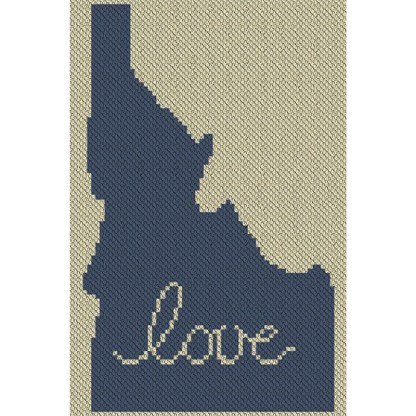 Idaho Love C2C Afghan Crochet Pattern Corner to Corner Crochet Pattern Graphghan Cross Stitch Blue Frog Creek