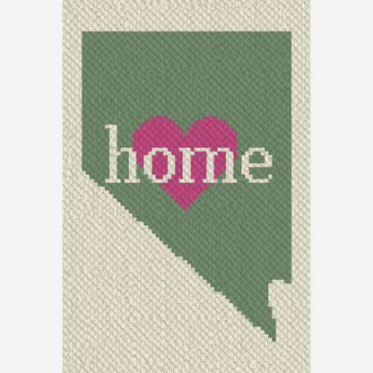 Nevada Home C2C corner to corner crochet pattern
