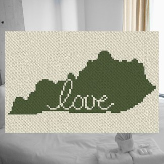 Kentucky Love C2C Corner to Corner Crochet Pattern