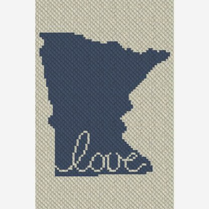 Minnesota Love C2C Corner to Corner Crochet Pattern