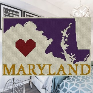 Heart Maryland C2C Afghan Crochet Pattern Corner to Corner Crochet Pattern