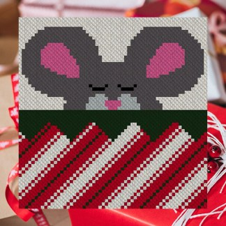 Snug in a Rug C2C Corner to Corner Lapghan Graphghan Crochet Pattern Christmas Afghan Blanket