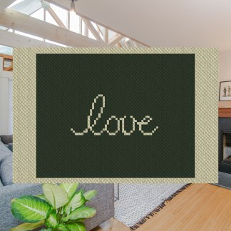 Wyoming Love C2C Afghan Crochet Pattern Corner To Corner Cross-Stitch Graphghan Blue Frog Creek