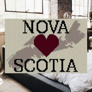 Heart Nova Scotia C2C Afghan Crochet Pattern Corner to Corner Blanket Graphghan Cross Stitch Blue Frog Creek
