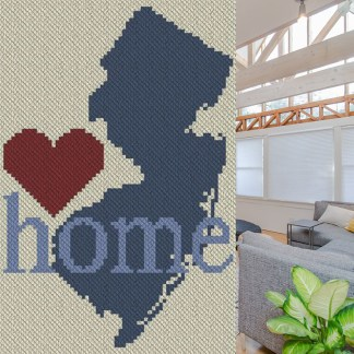 New Jersey Home C2C Afghan Crochet Pattren Corner to Corner Graphghan Cross Stitch Blue Frog Creek