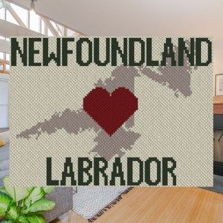 heart newfoundland labrador c2c afghan crochet pattern corner to corner graphghan ccross stitch blue frog creek