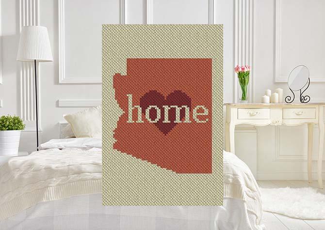 Arizona Home C2C Crochet Pattern