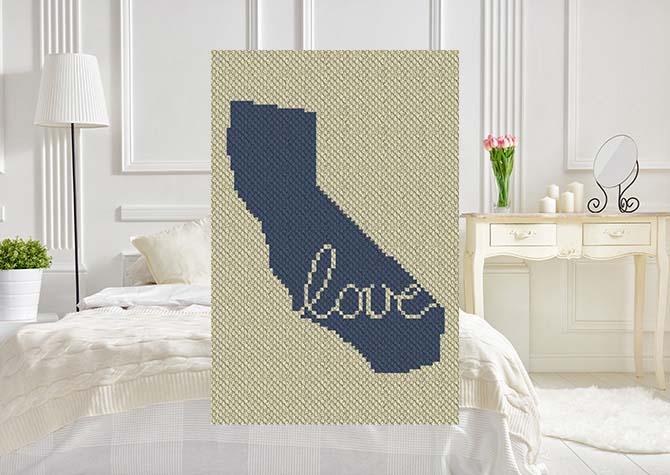 California Love C2C Crochet Pattern