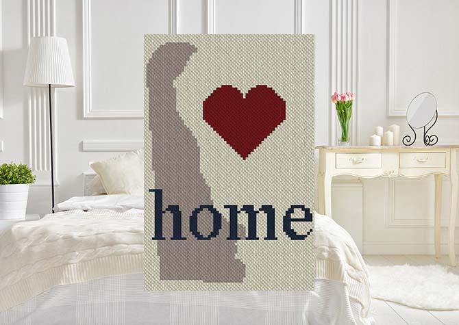 Delaware Home C2C Crochet Pattern