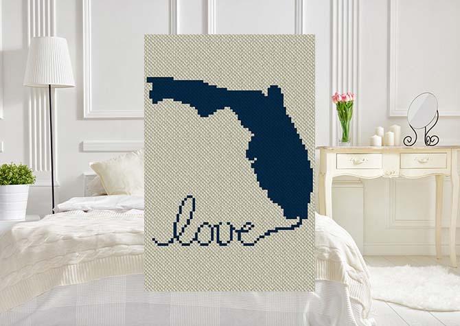 Florida Love C2C Afghan Crochet Pattern