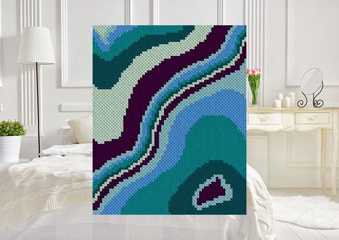 Geode C2C Crochet Pattern