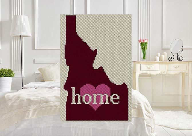 Idaho Home C2C Afghan Crochet Pattern