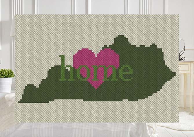 Kentucky Home C2C Crochet Pattern