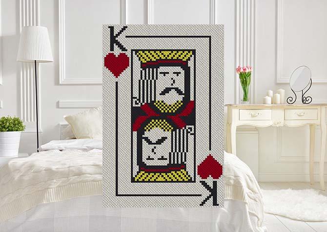 King of Hearts C2C Crochet Pattern