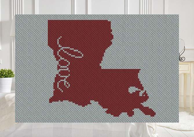 Louisiana Love C2C Afghan Crochet Pattern