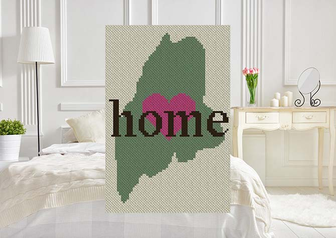 Maine Home C2C Crochet Pattern