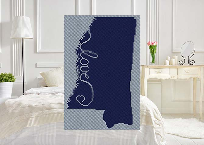Love Mississippi C2C Afghan Crochet Pattern