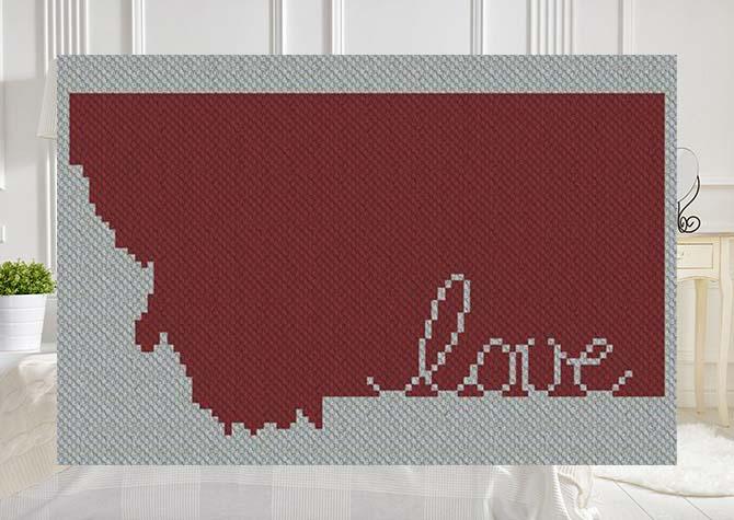 Montana Love C2C Afghan Crochet Pattern