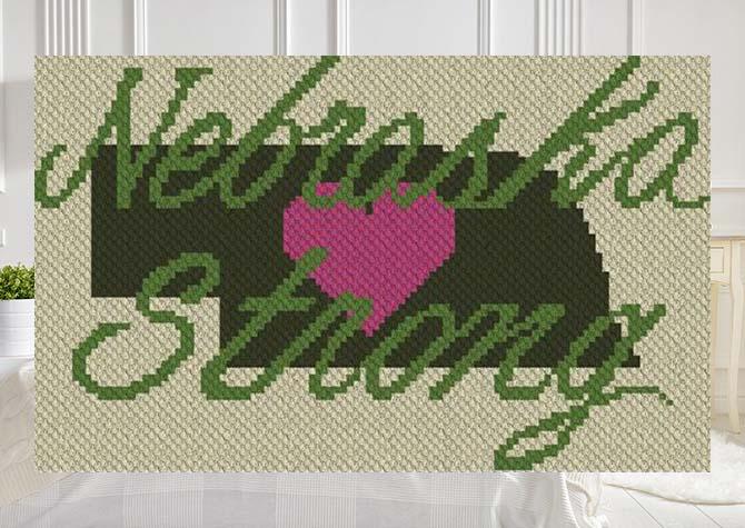 Nebraska Strong C2C Crochet Pattern
